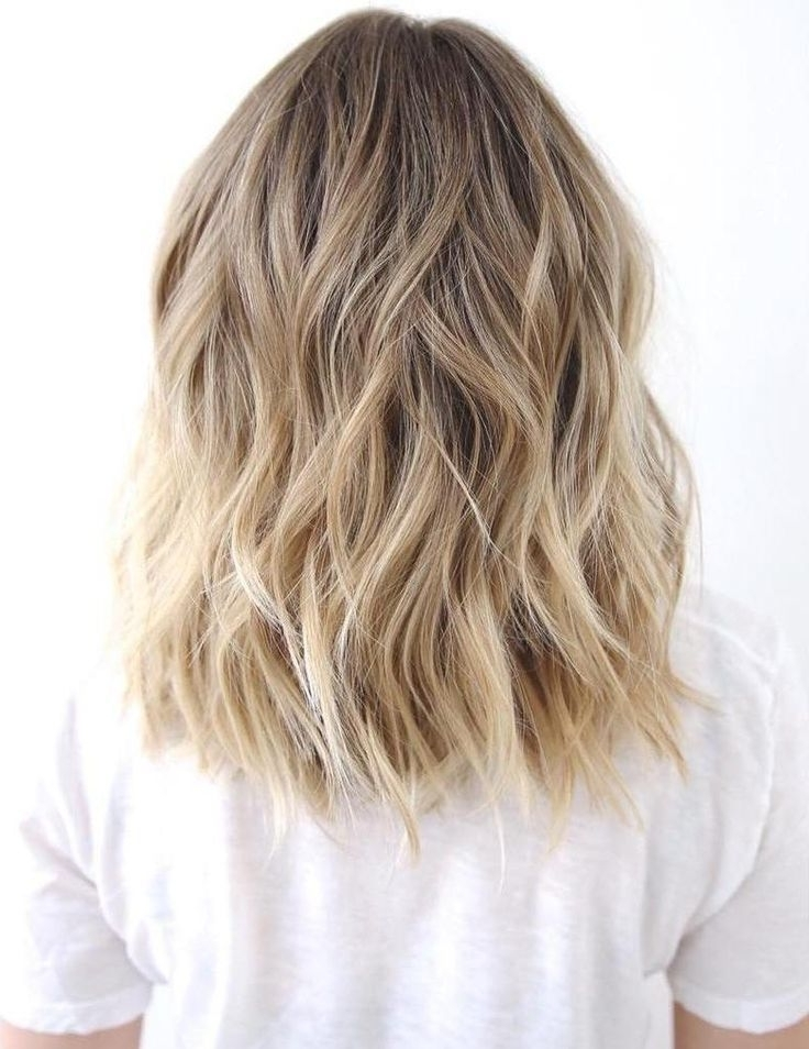 Medium To Long Wavy Brown Blonde Hair – Beachy Waves, Honey Blonde With Regard To Honey Hued Beach Waves Blonde Hairstyles (View 21 of 25)