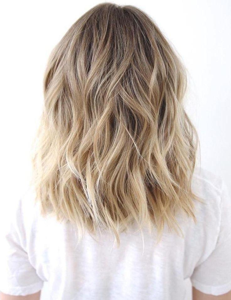 Medium To Long Wavy Brown Blonde Hair – Beachy Waves, Honey Blonde With Regard To Honey Hued Beach Waves Blonde Hairstyles (View 2 of 25)
