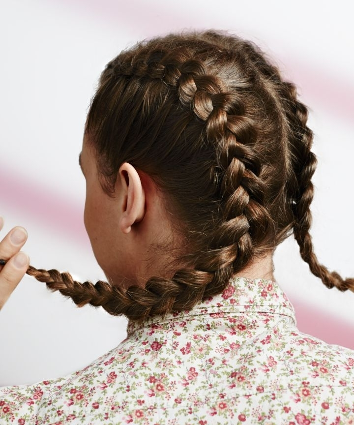 Men With Long Hair In Updos, Female Hairstyles Pertaining To Braided Millennial Pink Pony Hairstyles (View 17 of 25)