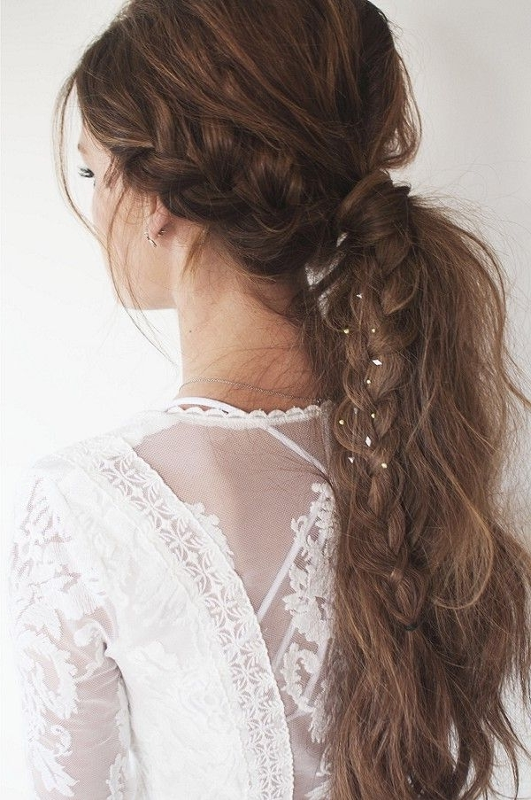 Messy Braid/pony Hybrid (View 2 of 25)