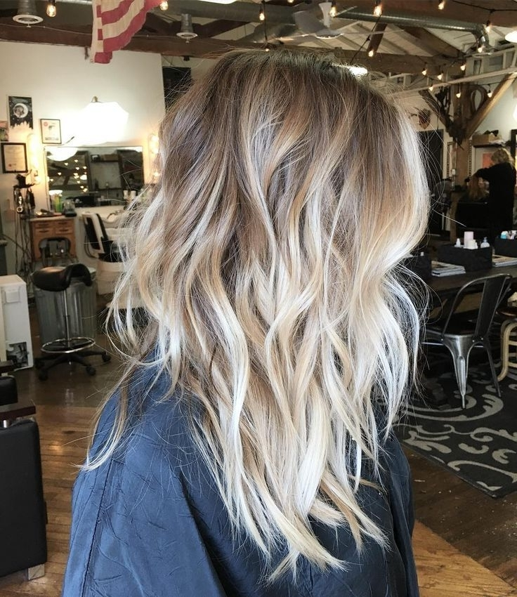 Messy Dark Blonde Hair With Vanilla Blonde Balayage And Chunky, Wavy For Light Chocolate And Vanilla Blonde Hairstyles (View 4 of 25)