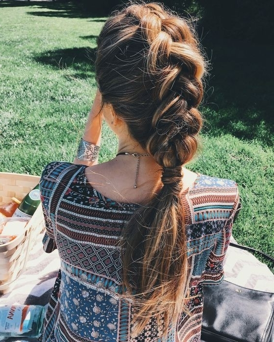 Featured Photo of Messy Dutch Braid Ponytail Hairstyles