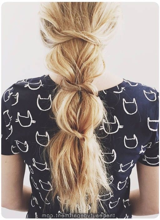 Messy Knotted Ponytail | Hair Inspo | Pinterest | Kristin Ess, Hair For Braided And Knotted Ponytail Hairstyles (View 4 of 25)