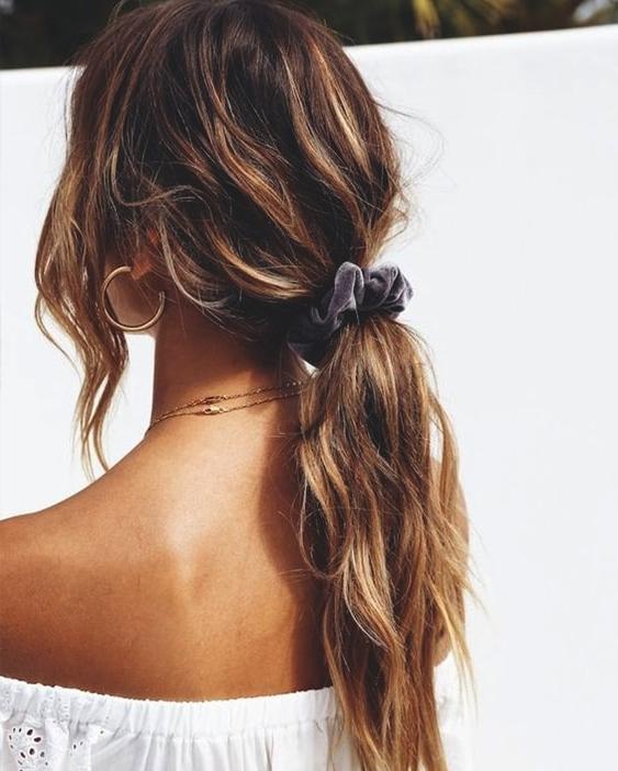 Messy Low Ponytail | Ecemella Regarding Messy Low Ponytail Hairstyles (View 4 of 25)