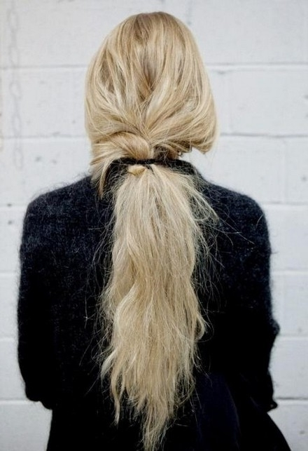 Messy Low Ponytail With Just A Hint Of A Braid – Hairstyles, Easy Within Messy Low Ponytail Hairstyles (View 16 of 25)