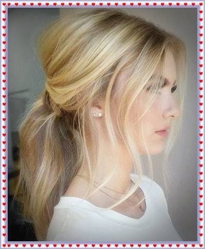Messy Low Ponytails Messy Ponytail Hairstyles – Haircut Styles And Pertaining To Low Messy Ponytail Hairstyles (View 9 of 25)