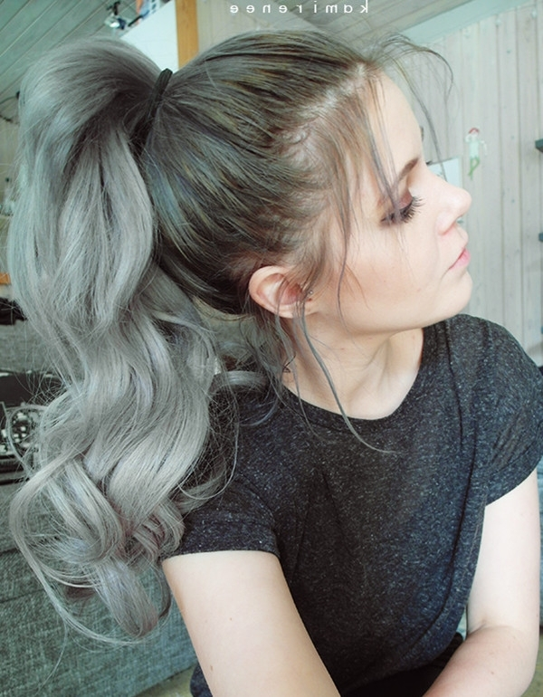 Messy Ponytail Archives – Vpfashion Vpfashion Throughout Messy And Teased Gray Pony Hairstyles (View 24 of 25)
