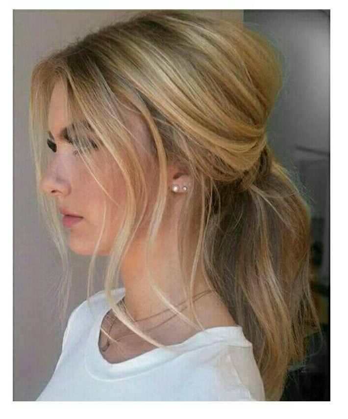 Messy Ponytail | Everyday Hairstyles Long | Pinterest | Messy Within Long Blond Ponytail Hairstyles With Bump And Sparkling Clip (View 10 of 25)