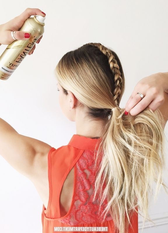 Messy Ponytail With Braided Part (View 13 of 25)