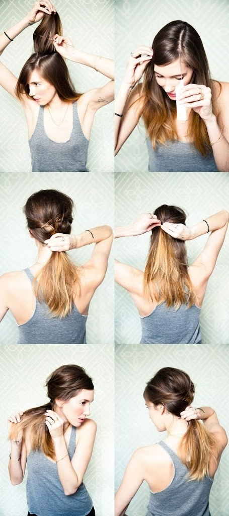 Messy Side Ponytail | A Cup Of Jo With Regard To Messy And Teased Gray Pony Hairstyles (View 11 of 25)