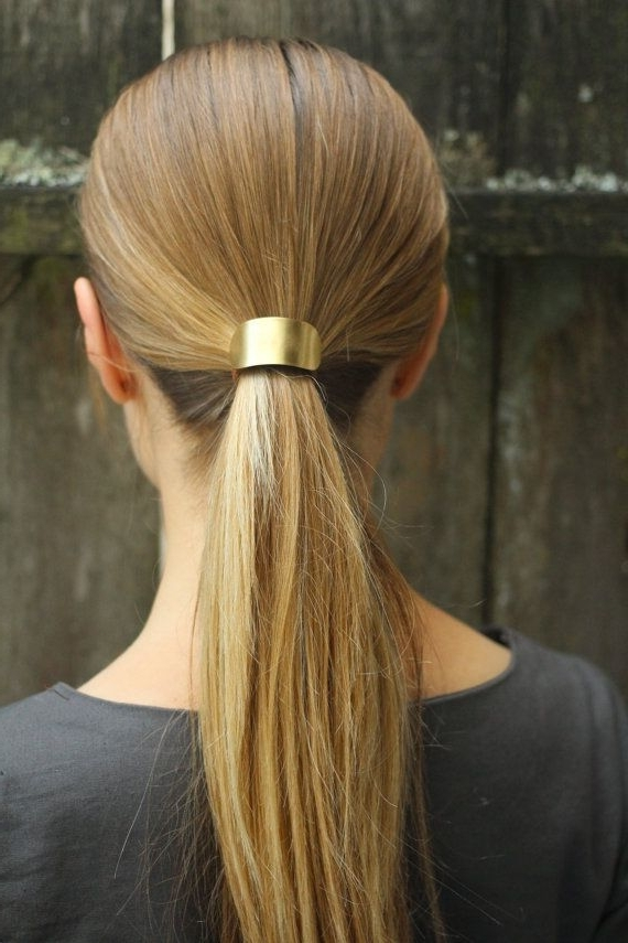 Metal Hair Cuff – Size Small Copper Ponytail Holder Rustic Hair In Pebbles Pony Hairstyles (View 15 of 25)