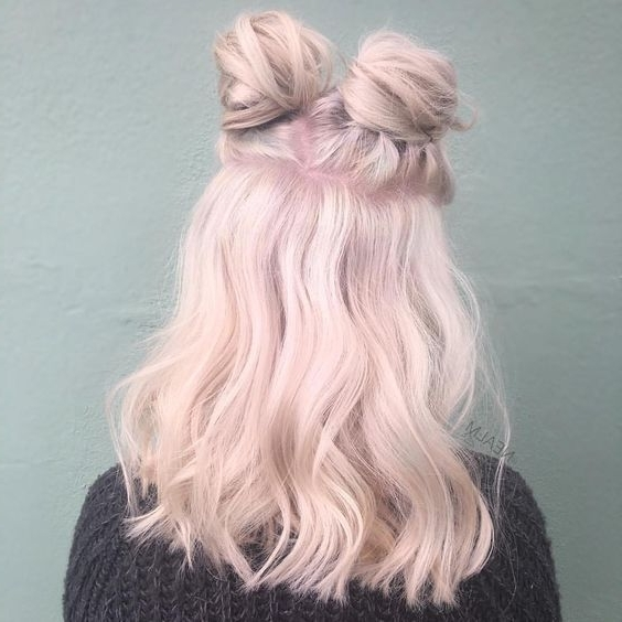 Millennial Pink Hair Dye: Pretty In Pink Inside Braided Millennial Pink Pony Hairstyles (View 20 of 25)