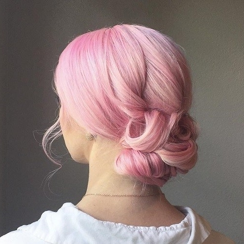Millennial Pink Hair Dye: Pretty In Pink With Regard To Braided Millennial Pink Pony Hairstyles (View 16 of 25)