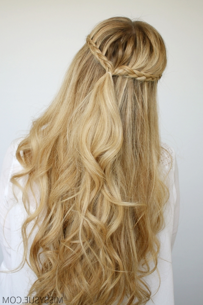 Mini Braids And Beach Waves   Missy Sue Inside Beachy Half Ponytail Hairstyles (View 20 of 25)