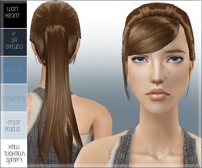 Mod The Sims – Great Ponytail With New Mesh, Recolors, Animated, Etc (View 22 of 25)