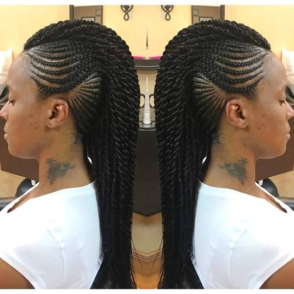Mohawk Braid Hairstyles Black Braided Mohawk Hairstyles Simple Of Inside Braided Hawk Hairstyles (View 11 of 25)
