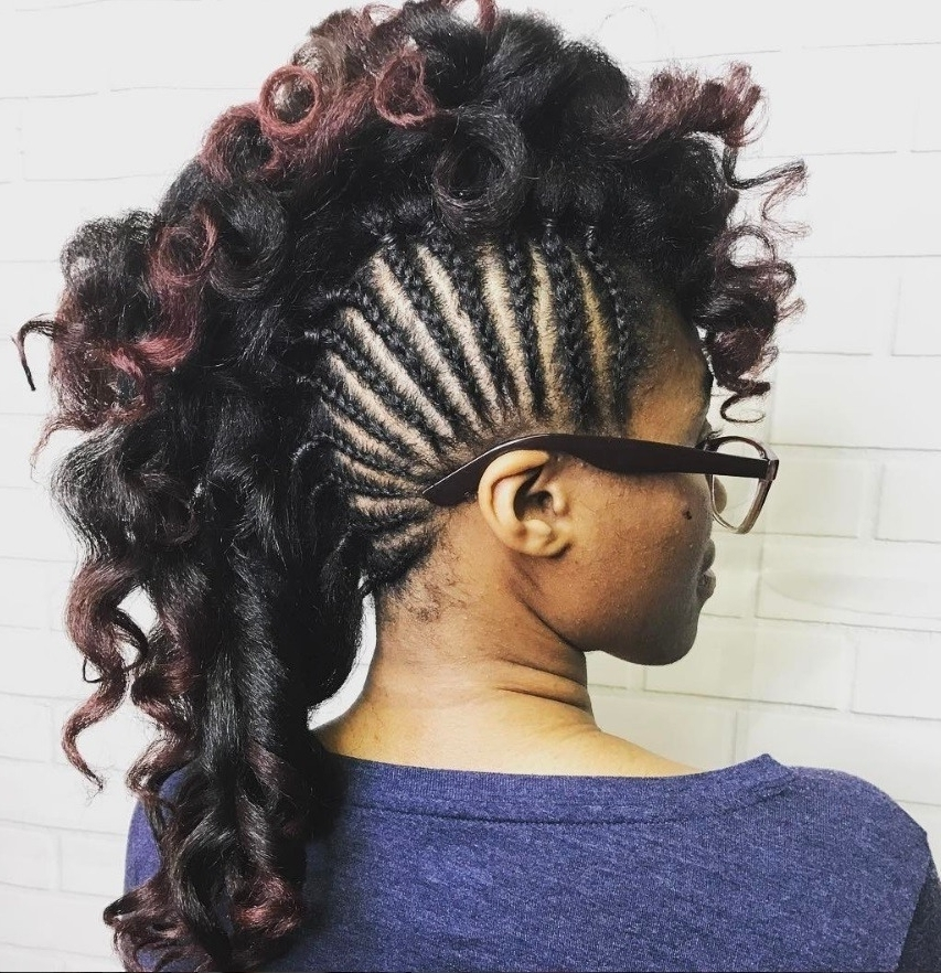Mohawk Braid Hairstyles: Punk Rock Chic Is Back In Business Pertaining To Braided Mohawk Pony Hairstyles With Tight Cornrows (View 15 of 25)