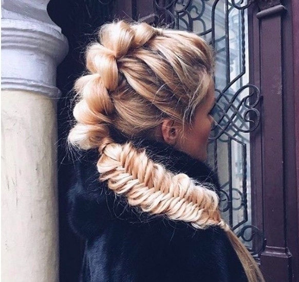 Mohawk Braid Hairstyles: Punk Rock Chic Is Back In Business Regarding Mohawk Braid Into Pony Hairstyles (View 23 of 25)