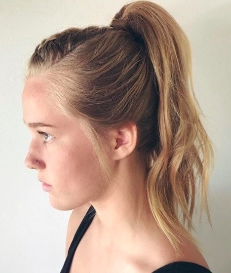 Mohawk Braid Hairstyles: Punk Rock Chic Is Back In Business Within Mohawk Braid Into Pony Hairstyles (View 9 of 25)
