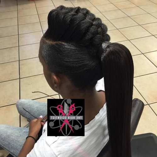 Mohawk Braid Into Pony For Black Women Modern Of Goddess Braids In A Within Mohawk Braid Into Pony Hairstyles (View 13 of 25)