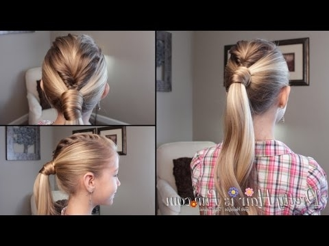 Mohawk Fishtail Braid Ponytail ? Tutorial!! ? – Youtube Pertaining To Braided Ponytail Mohawk Hairstyles (View 23 of 25)