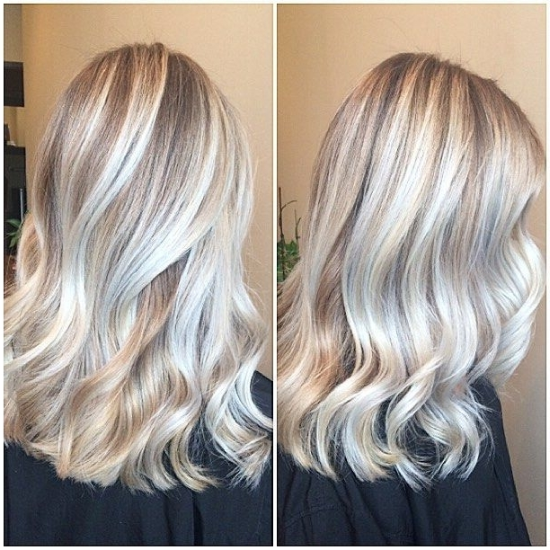 """Morgan On Instagram: """"Bright Icy Blonde Ribbons With Her Natural In Dark Blonde Hairstyles With Icy Streaks (View 23 of 25)"""