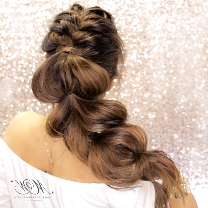 Most Romantic Mohawk Braid Ever! | Hair Style Tutorial – Makeupwearables Intended For Braided Ponytail Mohawk Hairstyles (View 25 of 25)
