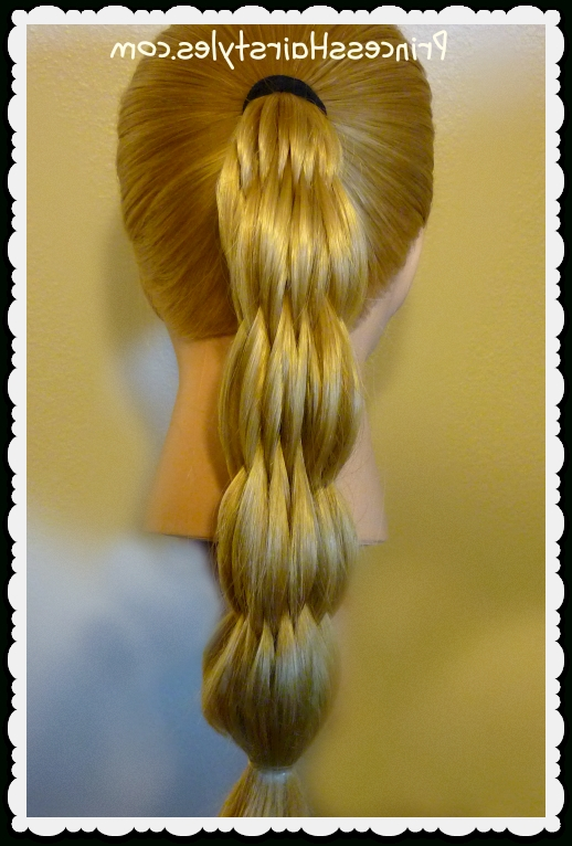 Multi Strand Pull Through Ponytail – Hairstyles For Girls – Princess Pertaining To Princess Ponytail Hairstyles (View 14 of 25)