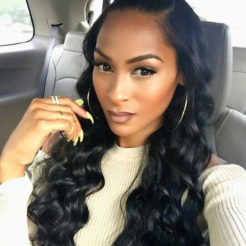 Natural Color 100% Brazilian Virgin Human Hair Wig Body Wave Lace inside Natural Color Waves Hairstyles