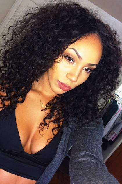 Natural Color Deep Wave Brazilian Virgin Hair Full Lace Wigs[Flw15 in Natural Color Waves Hairstyles