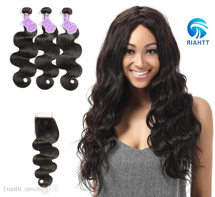 Natural Color Indian Body Wave Human Hair Brazillian Peruvian Soft Intended For Natural Color Waves Hairstyles (View 8 of 25)