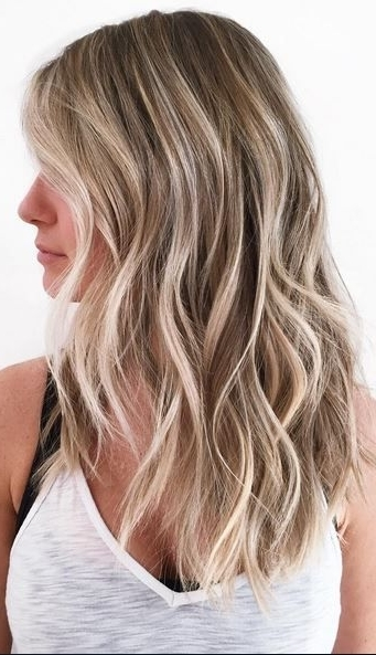 Naturally Sunkissed Bronde Highlights | Hair Color In 2018 Throughout Dishwater Waves Blonde Hairstyles (View 2 of 25)