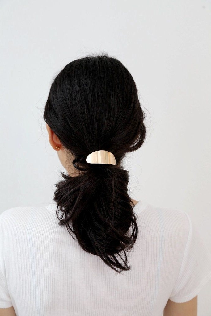 Naya Gold Hair Tie | Hair | Pinterest | Gold Hair, Hair Ties And Gold Intended For Black And Luscious Pony Hairstyles (View 18 of 25)