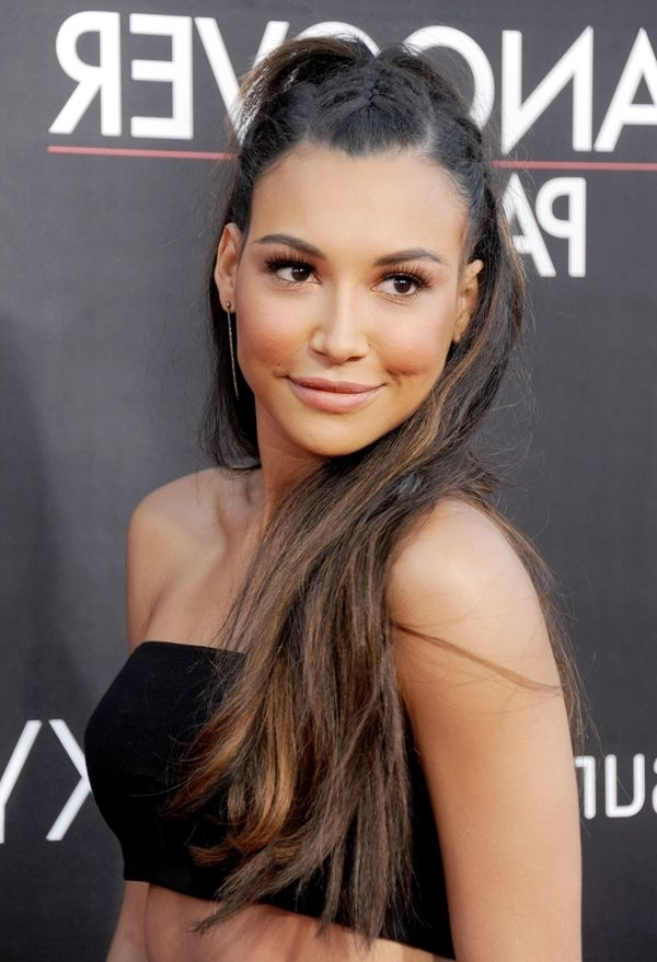 Naya Rivera's Punky Ponytail Plaits | Santana (Glee) | Pinterest intended for Punky Ponytail Hairstyles