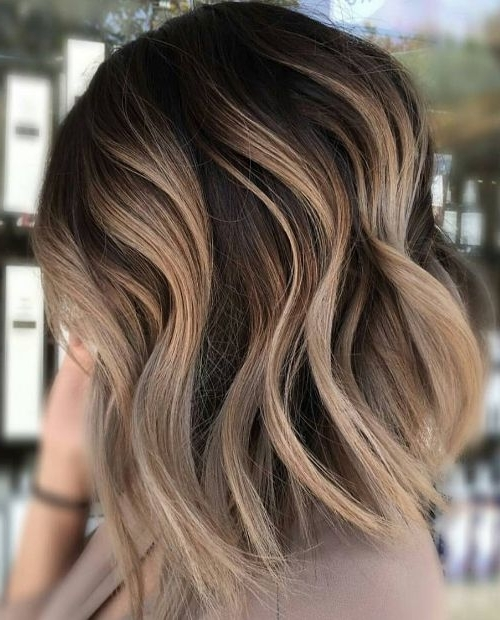 Neutral Carmel Blonde Hair Color Ideas For Short Hairstyles 2017 In Icy Ombre Waves Blonde Hairstyles (View 25 of 25)