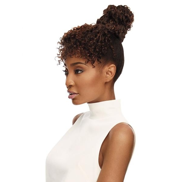 New Arrival – Buns & Ponytails – Newyorkhairmall Pertaining To Pineapple Pony Hairstyles With Whirl Bangs (View 11 of 25)