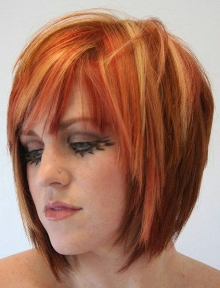 Newest Short Red Hairstyles 2015 - Daily Fashion Blog throughout Side Swept Warm Blonde Hairstyles