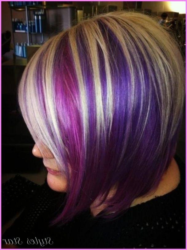 Nice Blonde Hair With Purple Lowlights | Stars Style | Pinterest with regard to Voluminous Platinum And Purple Curls Blonde Hairstyles