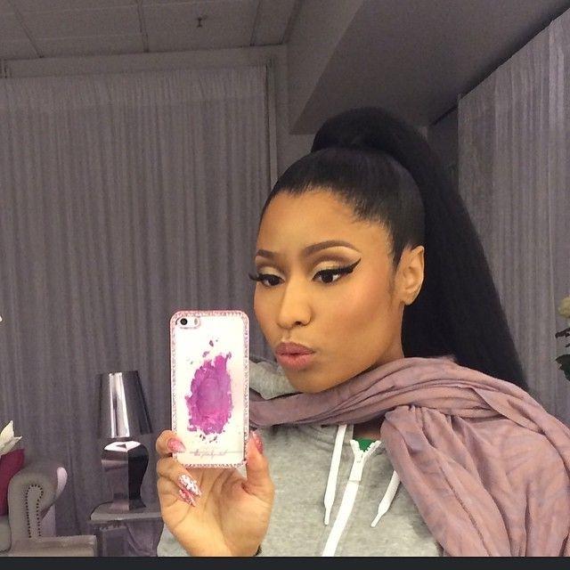 Nicki Minaj Ponytail - Google Search | Girl Power! | Pinterest throughout Minaj Pony Hairstyles With Arched Bangs