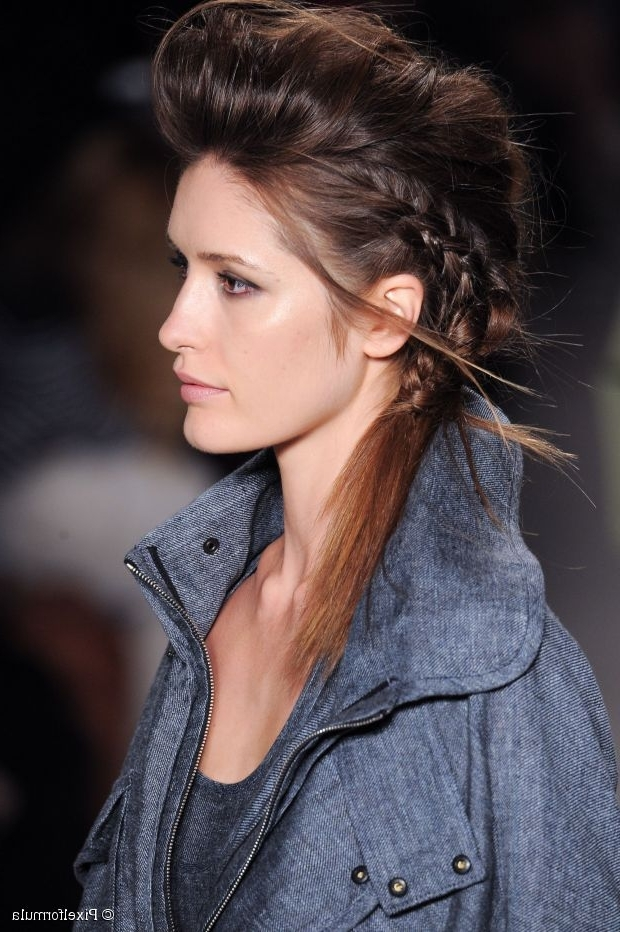 Night Out Hairstyle Tutorial: Braided Pompadour intended for Curly Pony Hairstyles With A Braided Pompadour