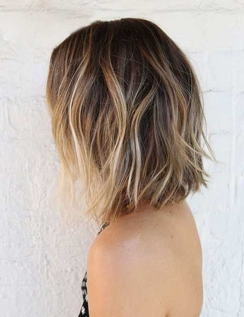 Showing Gallery Of Tousled Shoulder Length Ombre Blonde Hairstyles