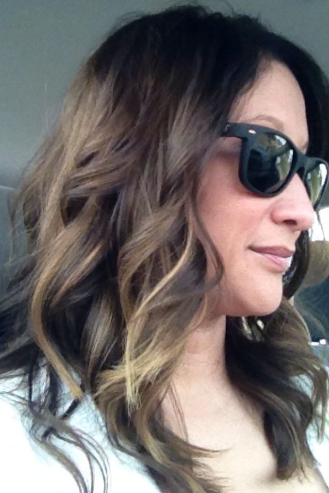 Ombré For Darker Hair | Hair | Pinterest | Dark Hair, Hair Make Up Within Browned Blonde Peek A Boo Hairstyles (View 15 of 25)