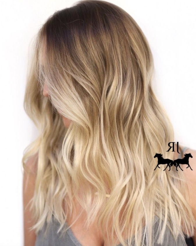 Ombre Hair Colours For 2018 – 17 Styles To Give You All The Inspo Throughout Creamy Blonde Fade Hairstyles (View 18 of 25)