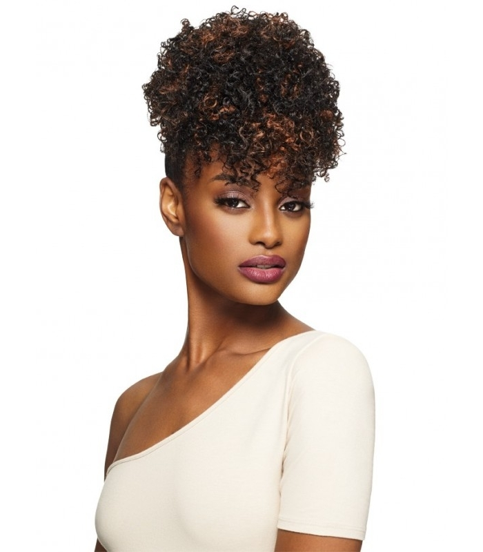 Outre Timeless Pineapple Ponytail Sweetie within Pineapple Pony Hairstyles With Whirl Bangs