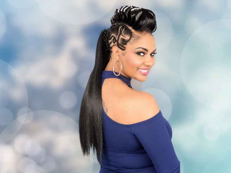 Over 180 Ponytail Hairstyles For Black Women You Need To See Regarding Intricate Updo Ponytail Hairstyles For Highlighted Hair (View 23 of 25)