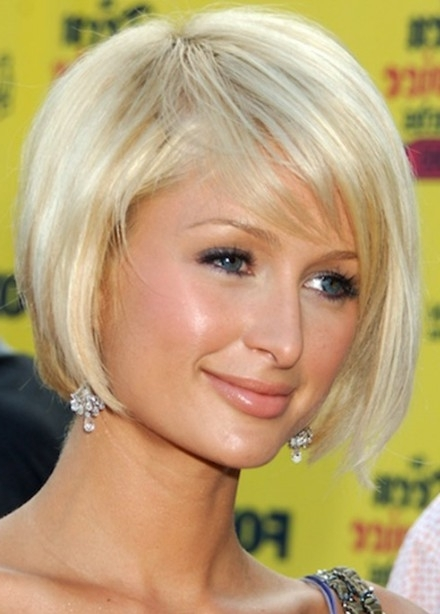 Paris Hilton Bob Hairstyle: Cute Short Blonde Bob Cut – Hairstyles Inside Cute Blonde Bob With Short Bangs (View 12 of 25)