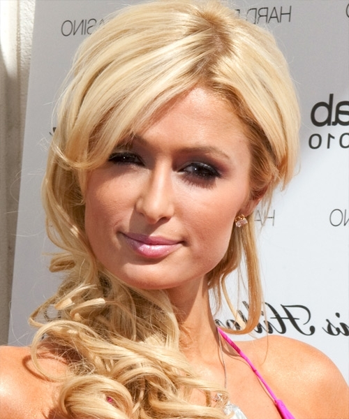 Paris Hilton Long Wavy Formal Hairstyle – Light Bright Blonde Hair Color Pertaining To Bright Long Bob Blonde Hairstyles (View 19 of 25)