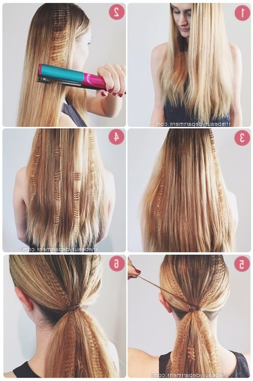 Partially Crimped Ponytail   Hair Inspiration   Pinterest   Crimped With Crimped Pony Look Ponytail Hairstyles (View 13 of 25)