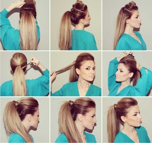 Party Ponytail | Beautiful Hair Styling | Pinterest | Ponytail, Hair For Poofy Ponytail Hairstyles With Bump (View 7 of 25)
