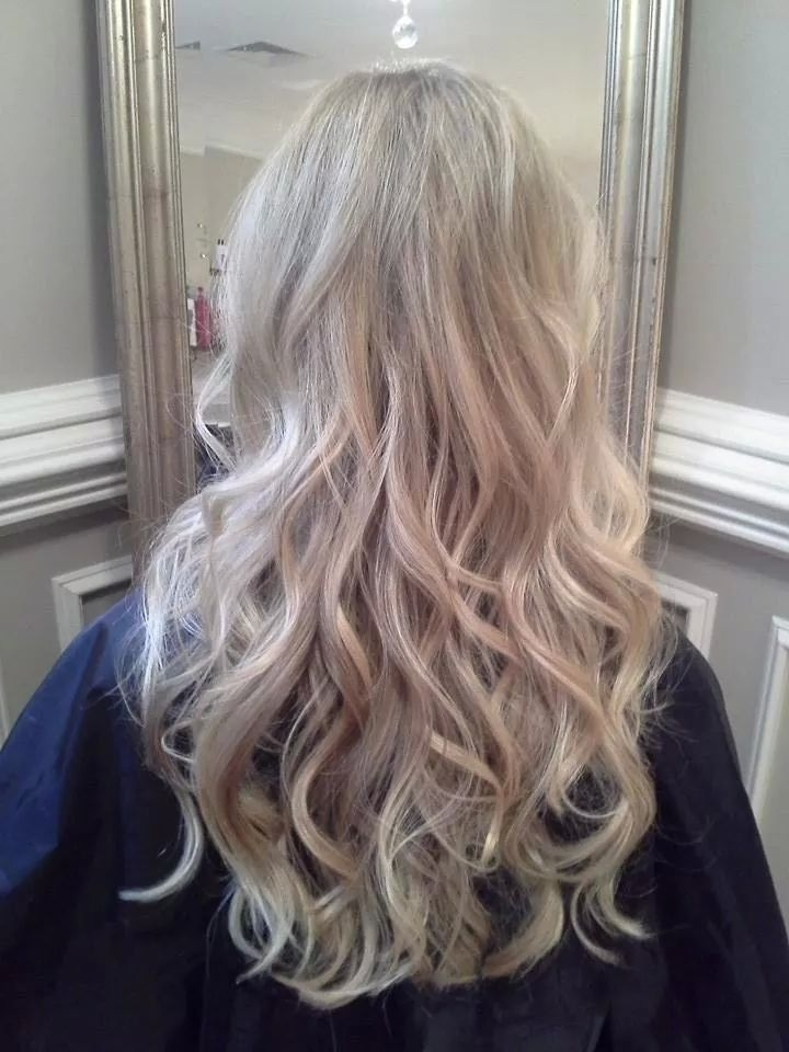 Pearl Blonde Highlights | Invidia | Pinterest | Pearl Blonde Inside Pearl Blonde Bouncy Waves Hairstyles (View 19 of 25)